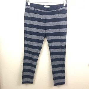 Gap slim cropped rugby striped casual pants